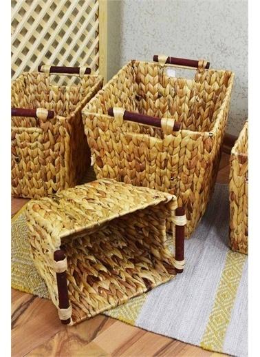 Belinay Hasır Dekoratif Sele Derin Dikdörtgen Küçük Boy 39046147 Renkli